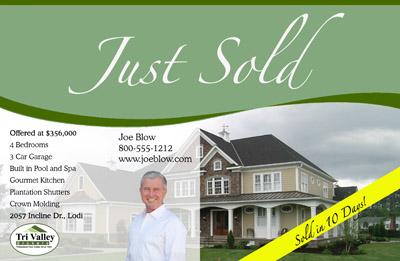 Just ListedJust Sold Postcards  All Real Estate Marketing Needs